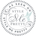 Featured on wedding blog Style Me Pretty badge