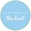 Featured on wedding blog The Knot badge