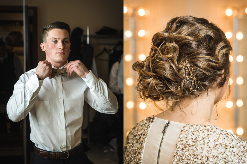 Photos of the bride & groom getting ready